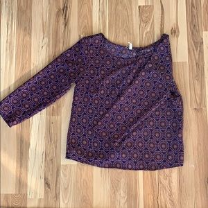 Printed polyester blouse
